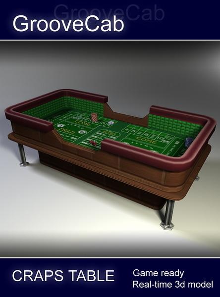 3d casino craps table model