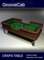 3d casino craps table model