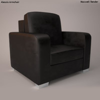 alessio armchair 3d model