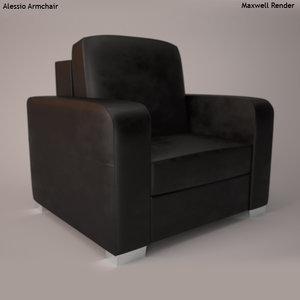 alessio armchair 3d model