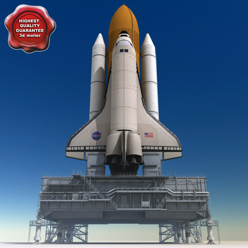 mobile launch platform shuttle 3d max