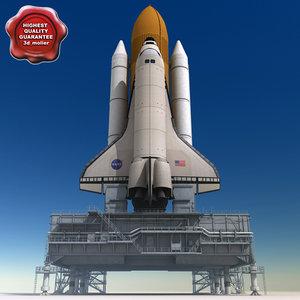 mobile launch platform shuttle 3d max