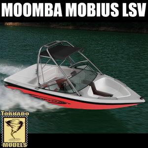 moomba mobius lsv motorboat 3d max