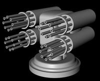 free obj model gattling gun turret
