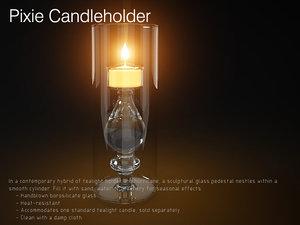 3d candle pixie candleholder model