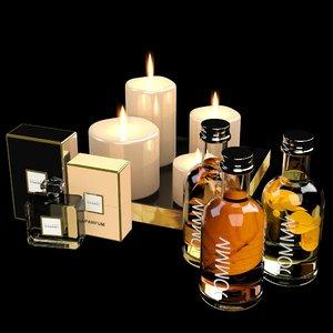bathroom accessories package 3d model