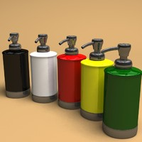 3d liquid soap dispenser model