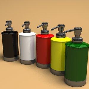 3d liquid soap dispenser model