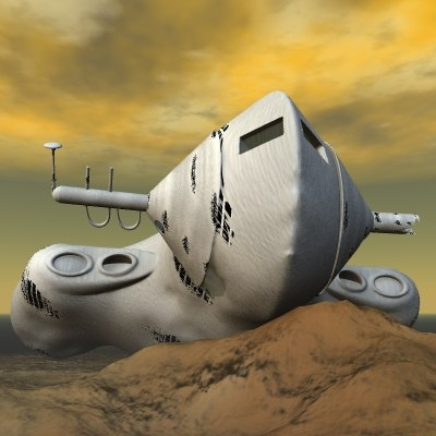 3d spacecraft spacewreck model