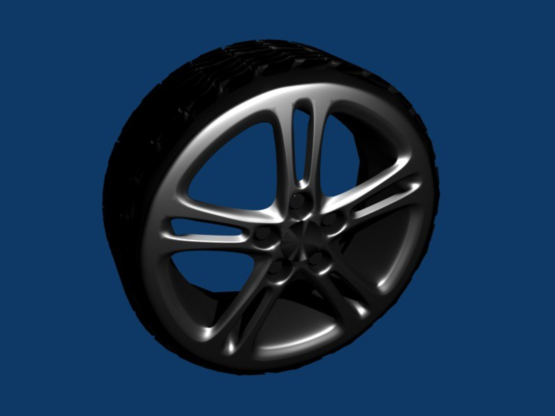 tire wheel rims 3d 3ds