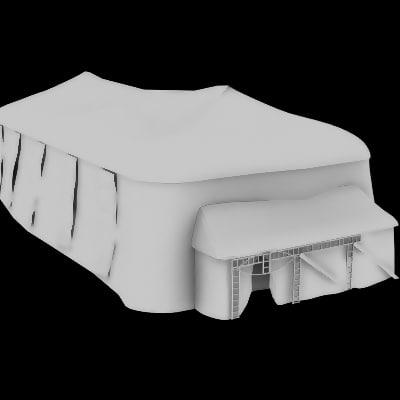 shanty tent town 3d model