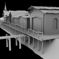3ds max riverside town
