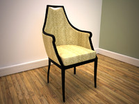 classically upholstered dining chair 3d max