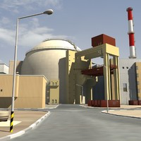 3d model of bushehr nuclear power plant