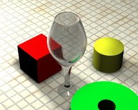 High-Poly Wine Glass