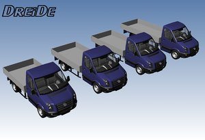 3d model singelcab pickuptruck