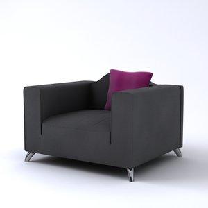 contemporary italian baroque armchair 3d model