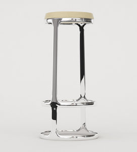 bar stool formed chair 3d model