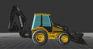 3d model backhoe loader