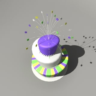 3ds festive cake