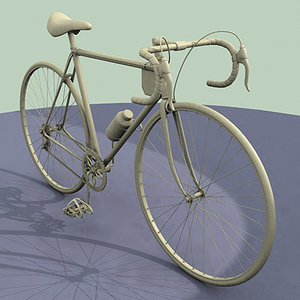 racing bike chain 3d model