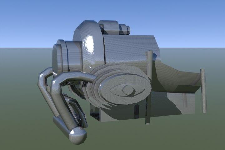 motorcycle engine motor 3d model