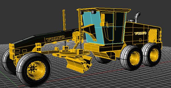 grader 3d model