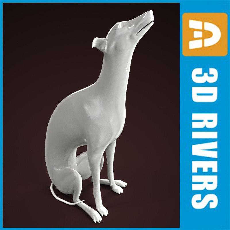 3ds porcelain dogs