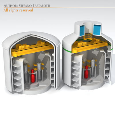 3d dxf nuclear reactor buildings