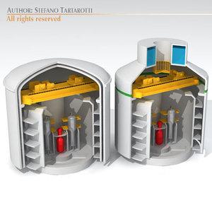 3d dxf nuclear reactor buildings