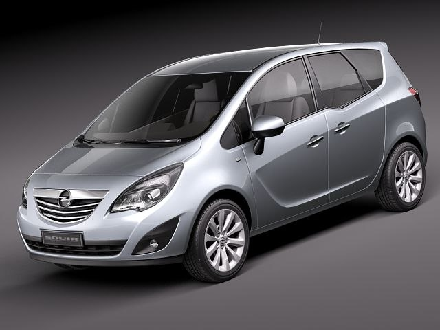 opel meriva 2011 3d 3ds. Black Bedroom Furniture Sets. Home Design Ideas