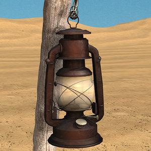 oil lamp 3d 3ds