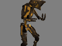 3d robot soldier