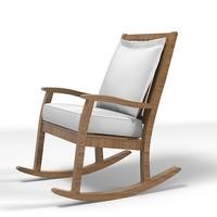 rock modern chair 3d model