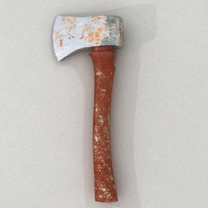 rusty axe 3d model