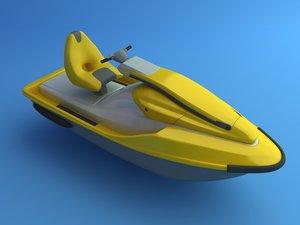 3d model jetski jet ski