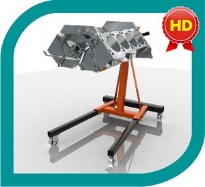 engine stand hd 3d model