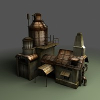 3d model steampunk building