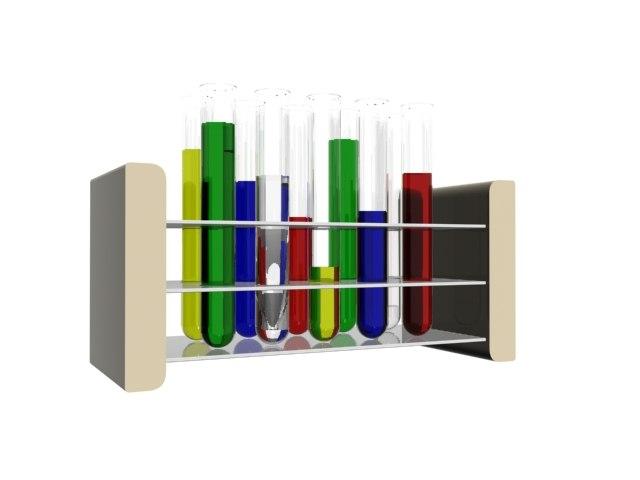test tubes set 3d model