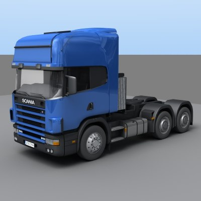 truck tractor scania 3d model