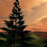 3d model ready healthy tree