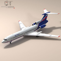3d model of tu-154 aeroflot