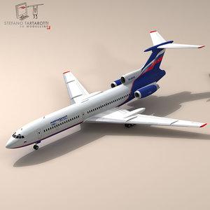3d model of tu-154 aeroflot