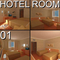3d model hotel guest room 01