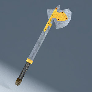 medieval axe 3d 3ds