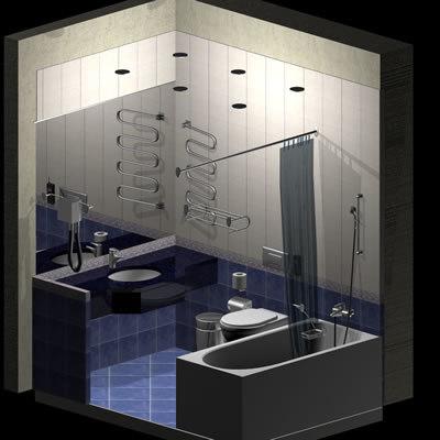 hotel bathroom fixtures 3d model