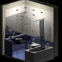 hotel bathroom fixtures 3d model