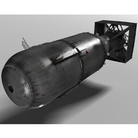 bomb little boy 3d model