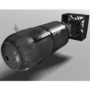 bomb little boy 3d model