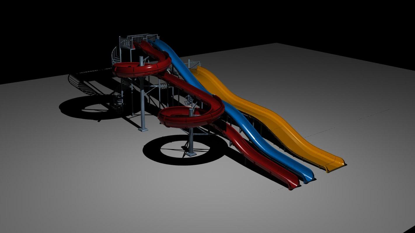 water waterslide 3d model